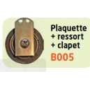 PLAQUETTE+RESSORT+PLAQUE INOX